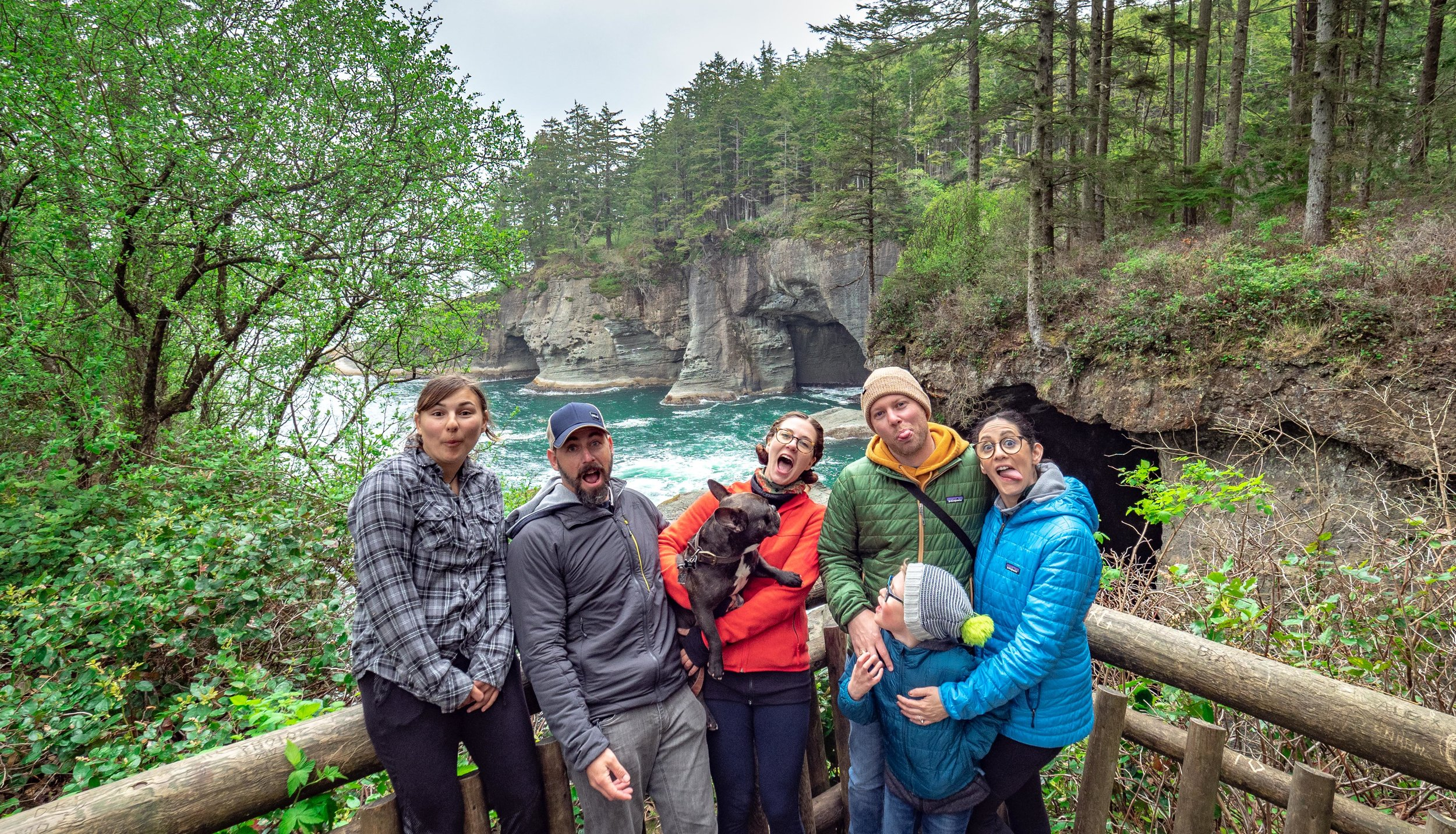 Morgan & the Berthiaumes on the Cape Flattery Trail in Neah Bay, WA | May 2019