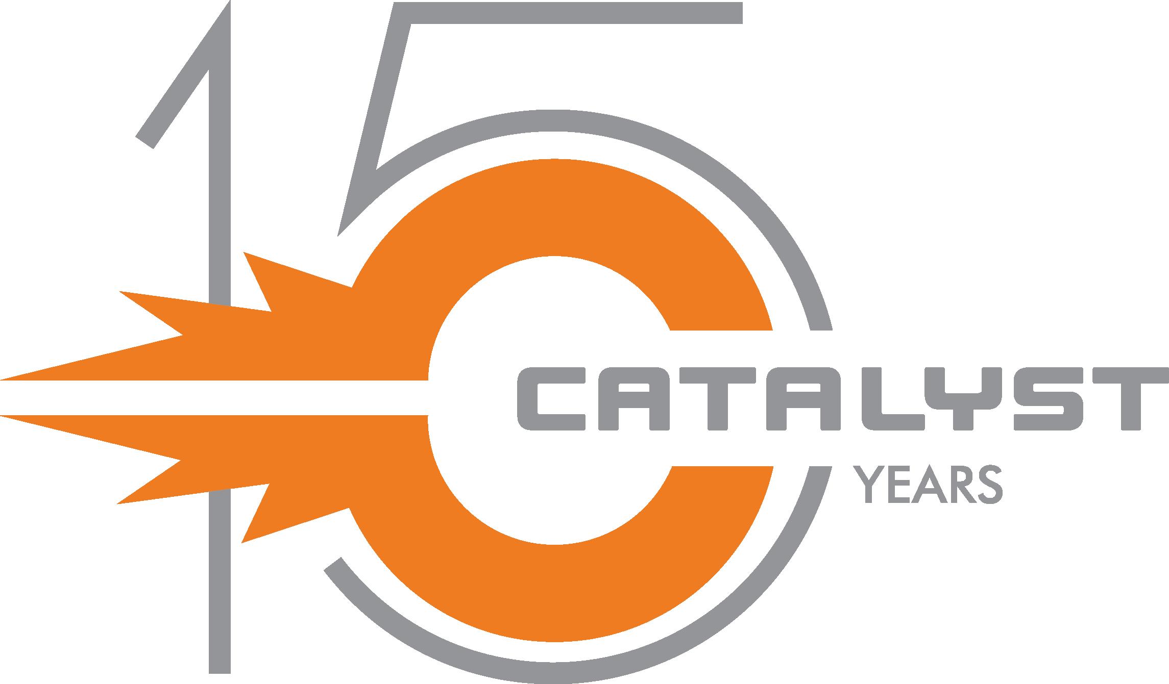Catalyst PDG 15 years logo