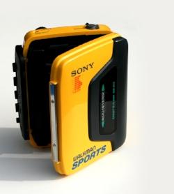 Yellow Sony Walkman