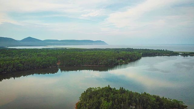 A couple months and we'll be up in those mountains searching for moose. Bring on the fall...and hunting season. #capebreton #capenorth #visitcapebreton #mavicpro #dji