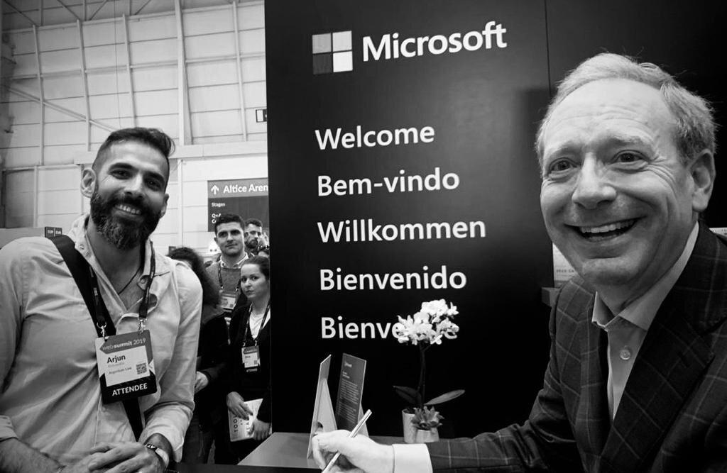 Arjun Ahluwalia, co-founder of Argentum Law with Brad Smith, President of Microsoft