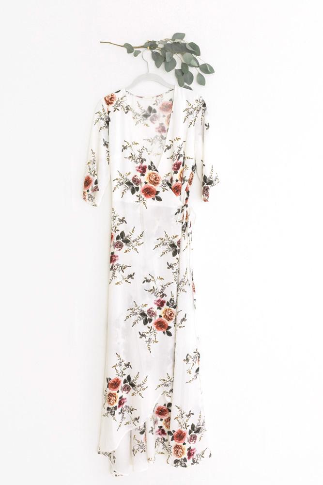 Medium wrap dress, non-maternity
