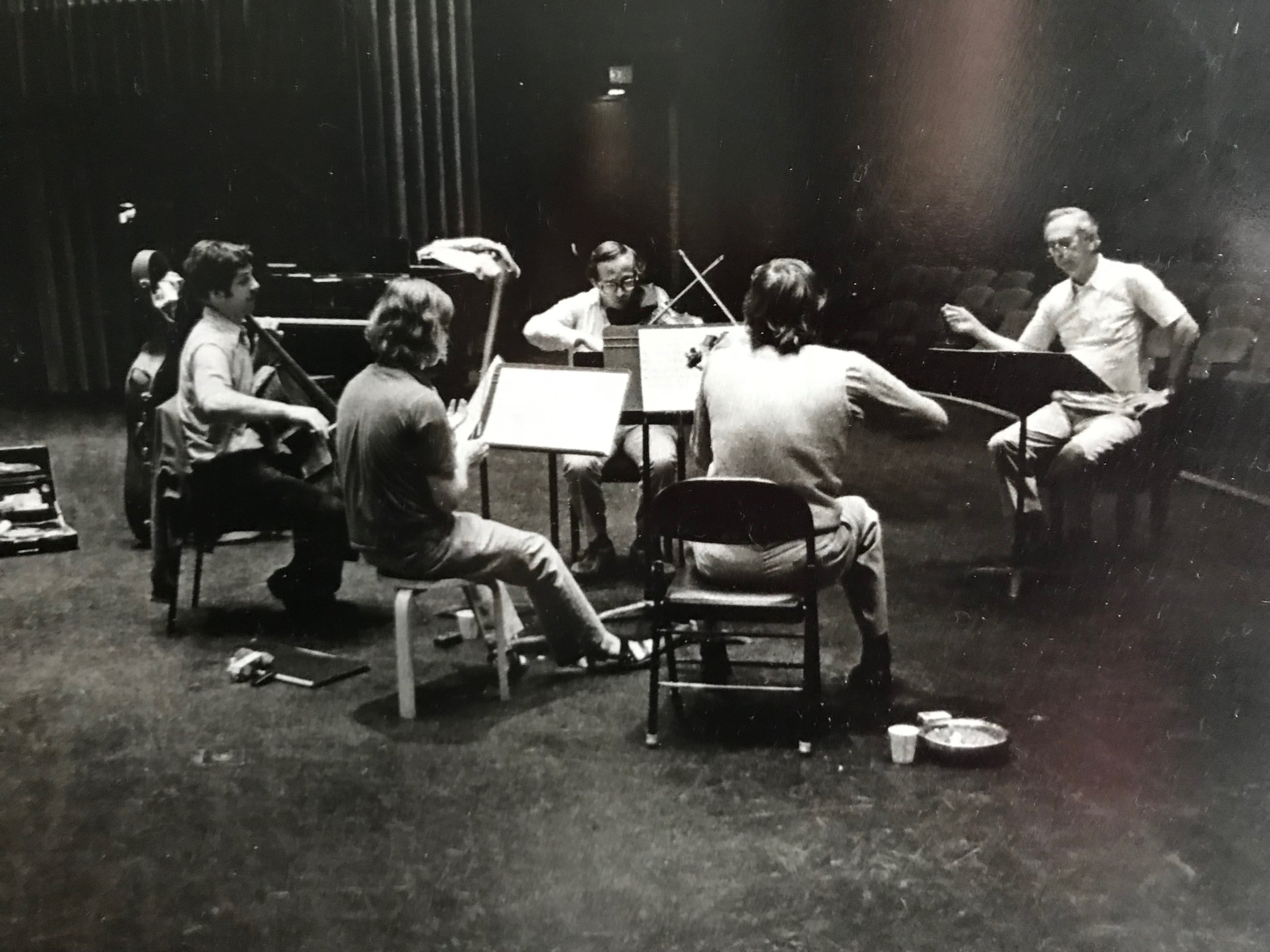 Concord String Quartet working with George Rochberg