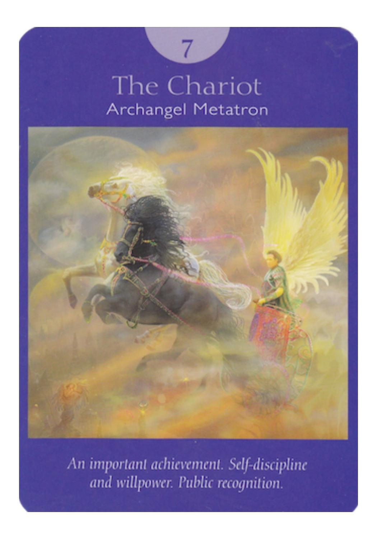 The Chariot - Archangel Metatron (Angel Tarot Cards - Doreen Virtue & Radleigh Valentine)