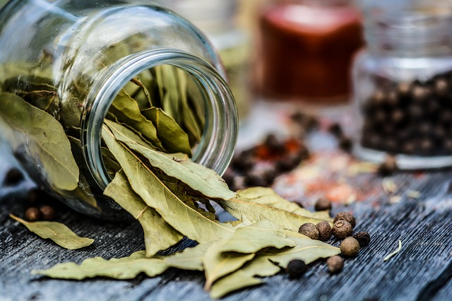 Bay leaves, spices, smudging, pantry