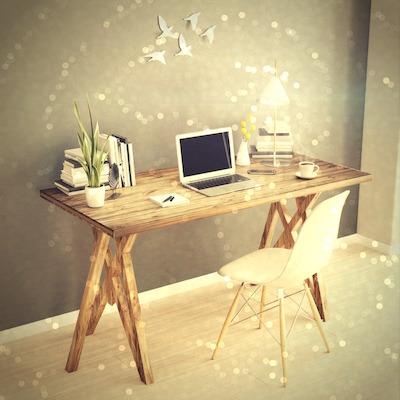 declutter office, feng shui, home office