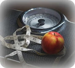 Weight loss, scale, exercise, apple