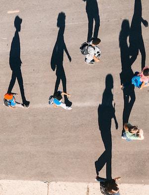 Shadow Self, walking with shadows