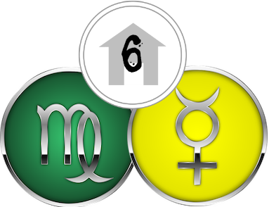 The Sixth House, ruled by Virgo & Mercury