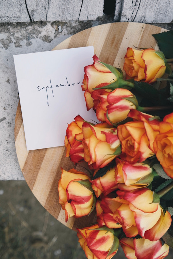 September goals, handwritten goals, manifestation