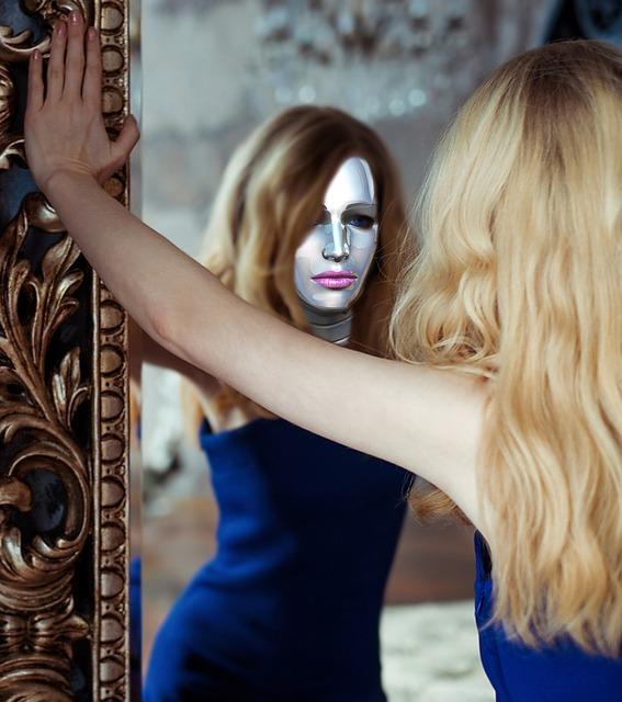 Girl in the mirror, self-love, healing