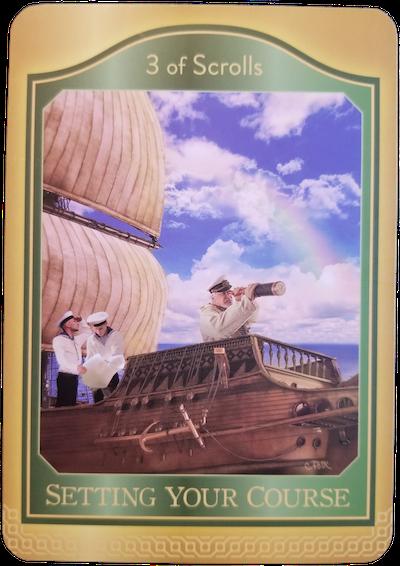 3 OF SCROLLS - The Akashic Tarot