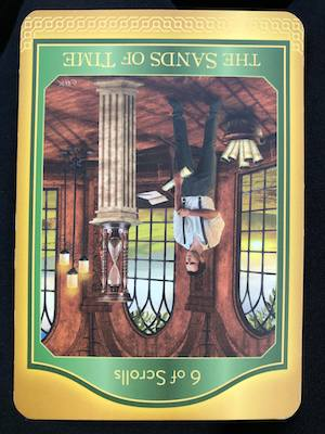 6 of SCROLLS - SANDS OF TIME - Akashic Tarot