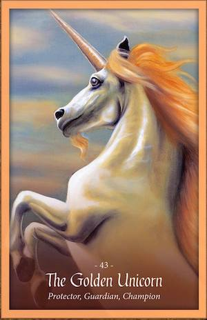 THE GOLDEN UNICORN - Faery Forest Oracle