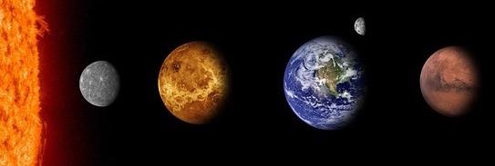 inner planets, mercury, venus, earth, mars