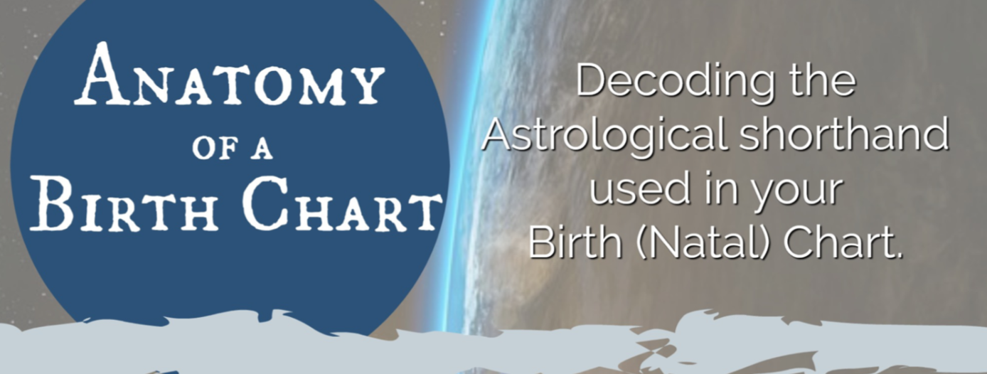 FREE download - ANATOMY OF A BIRTH CHART or NATAL CHART, Astrology, Horoscope