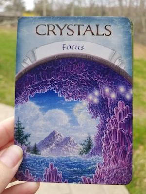 CRYSTALS - FOCUS - Earth Magic Oracle by Steven D. Farmer