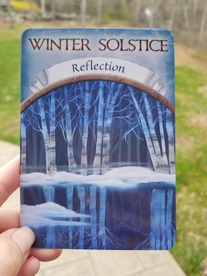 WINTER SOLSTICE - REFLECTION - Earth Magic Oracle by Steven D. Farmer