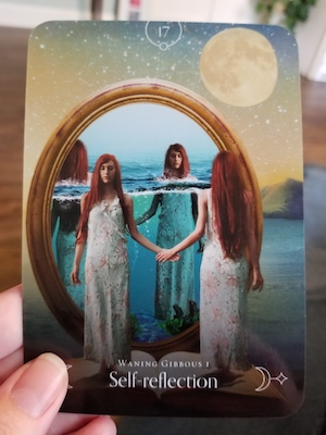 SELF-REFLECTION: Waning Gibbous 1 - Queen of the Moon Oracle, Stacey Demarco