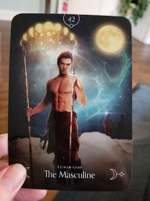 THE MASCULINE: Lunar God - Queen of the Moon Oracle, Stacey Demarco