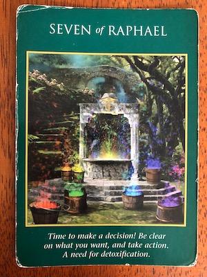SEVEN OF RAPHAEL: Archangel Power Tarot by Raleigh Valentine