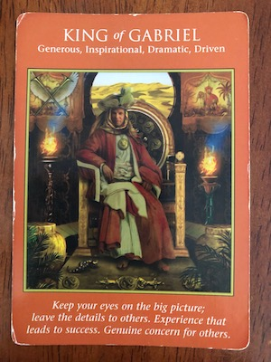 KING OF GABRIEL: Archangel Power Tarot by Raleigh Valentine