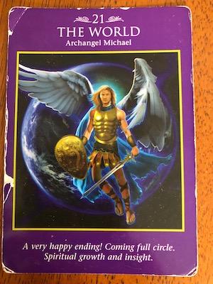 THE WORLD (Archangel Michael): Archangel Power Tarot by Raleigh Valentine