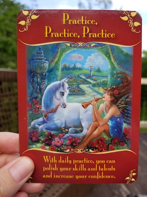PRACTICE PRACTICE PRACTICE: Magical Messages from the Fairies Oracle, Doreen Virtue