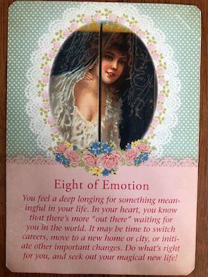 EIGHT OF EMOTION: Guardian Angel Tarot by Radleigh Valentine (and Doreen Virtue)