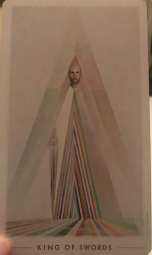 KING OF SWORDS: The Fountain Tarot by Jason Gruhl, Jonathan Saiz, Andi Todaro