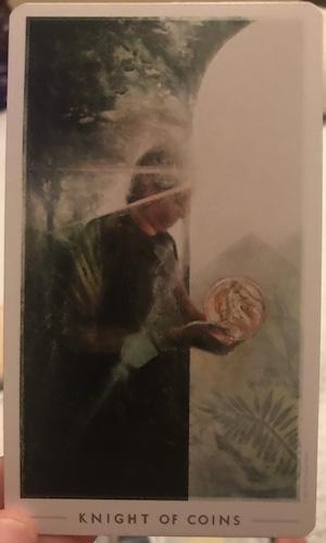 KNIGHT OF COINS: The Fountain Tarot by Jason Gruhl, Jonathan Saiz, Andi Todaro
