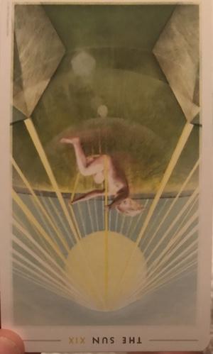 THE SUN (reversed): The Fountain Tarot by Jason Gruhl, Jonathan Saiz, Andi Todaro