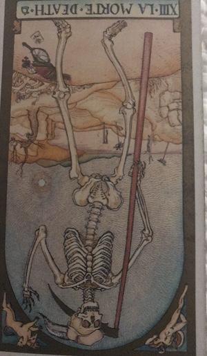 DEATH (reversed): Renaissance Tarot by Brian Williams
