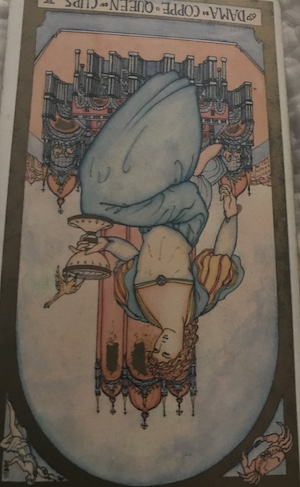 QUEEN OF CUPS (reversed): Renaissance Tarot by Brian Williams