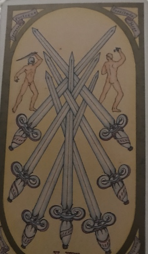 SEVEN OF SWORDS: Renaissance Tarot by Brian Williams