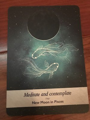 NEW MOON in PISCES: Moonology Oracle by Yasmin Boland
