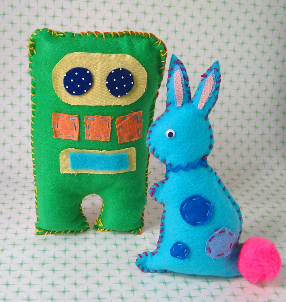 Plush Toy Design- ages 7 and up - Design  your own plush toy and bring them to life! Kids will learn how to use a sewing pattern along with various hand stitching techniques to create their own unique design. Pattern choices include owls, cats, bears, robots...and more!** Please note if this is the chosen craft for a venue party, we will need to extend the party to 2 hours, the cost is $70 to extend the party.
