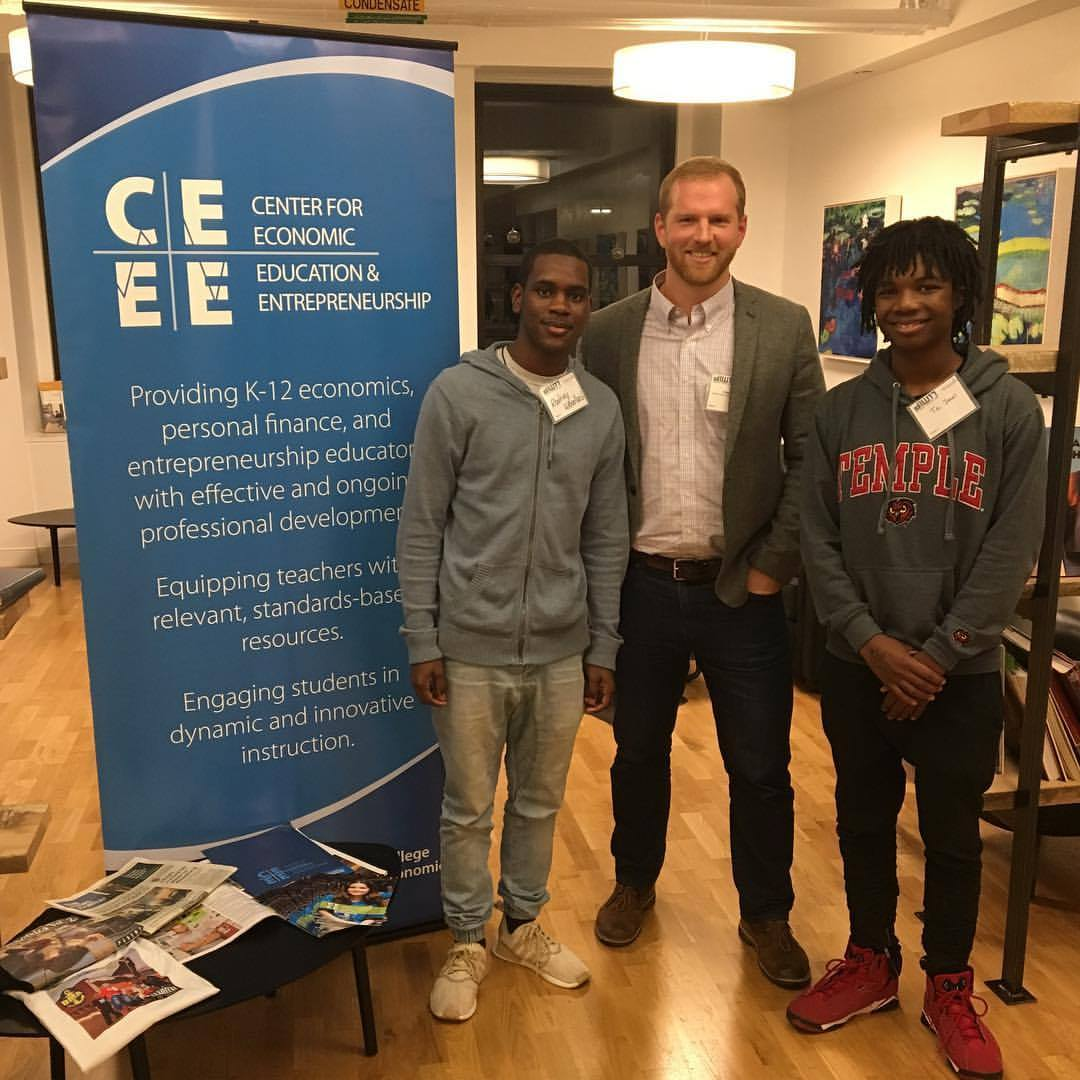 """Rodney and Tai received $300 from the University of Delaware Center for Economic Education & Entrepreneurship for their 1st prize winning track entitled """"Trade""""."""