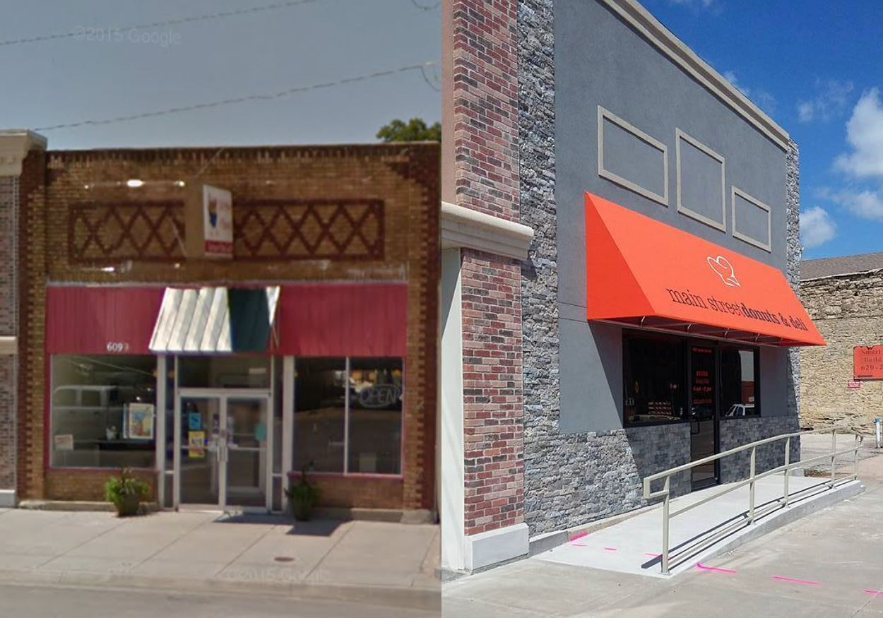 Main Street Cajun - 609 Main Street, Winfield, KS  |  Before and After