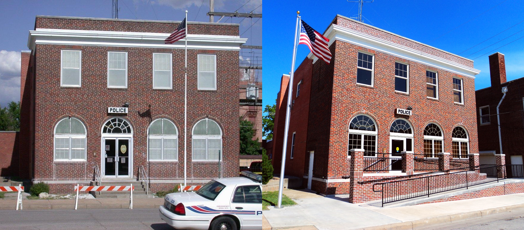 Before and After - Winfield Police Station