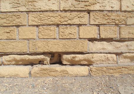 Spalling brick is very common.