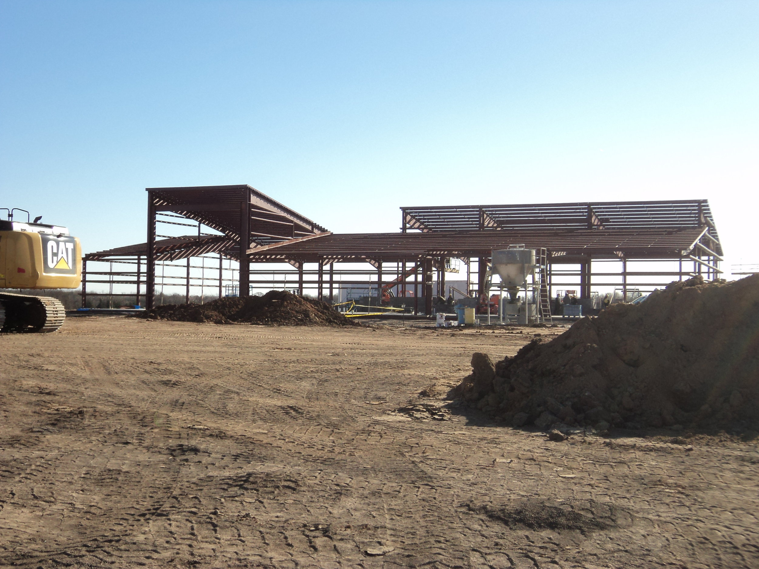 Cowley College Sumner Campus in early construction.