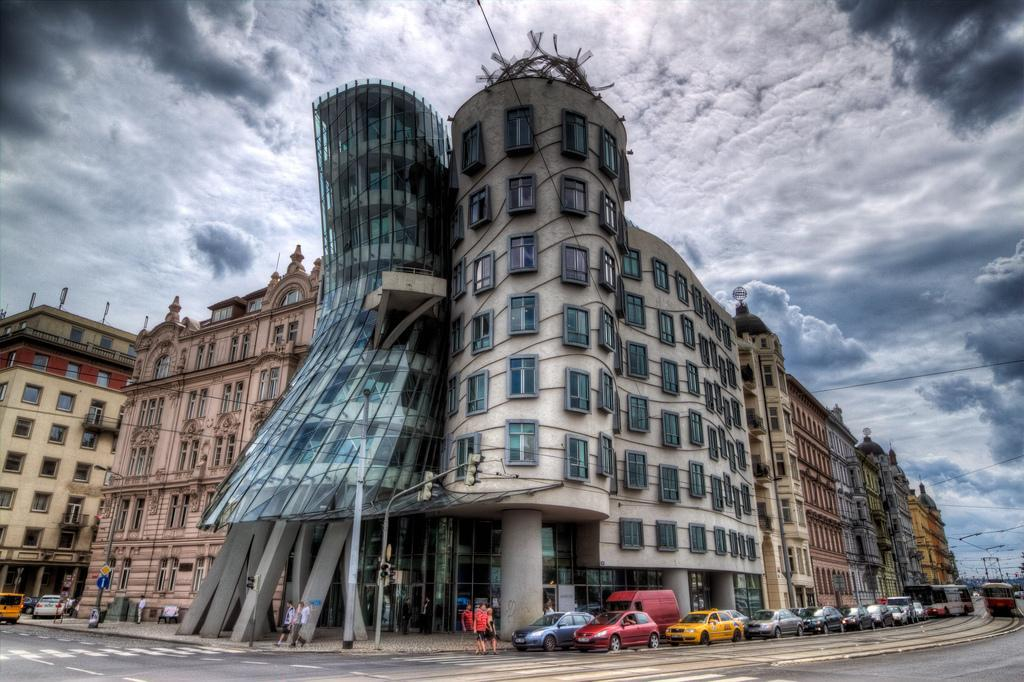 Prague - The Dancing House - Architects Vlado Milunic and Frank Gehry