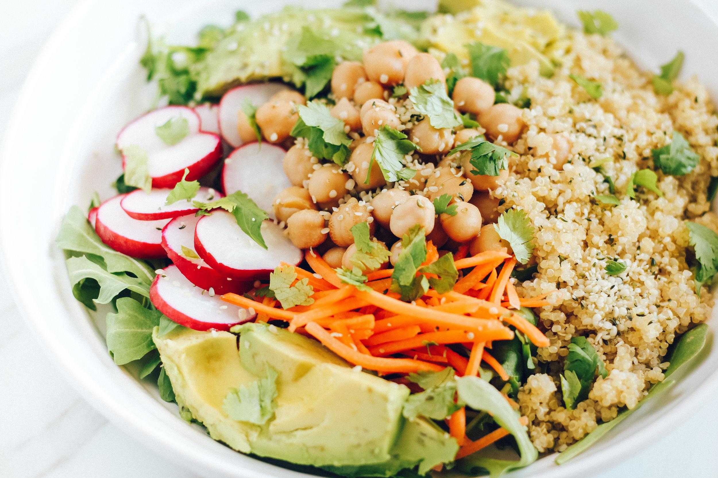 Arugula Quinoa Salad Stone Ground Mustard Dressing