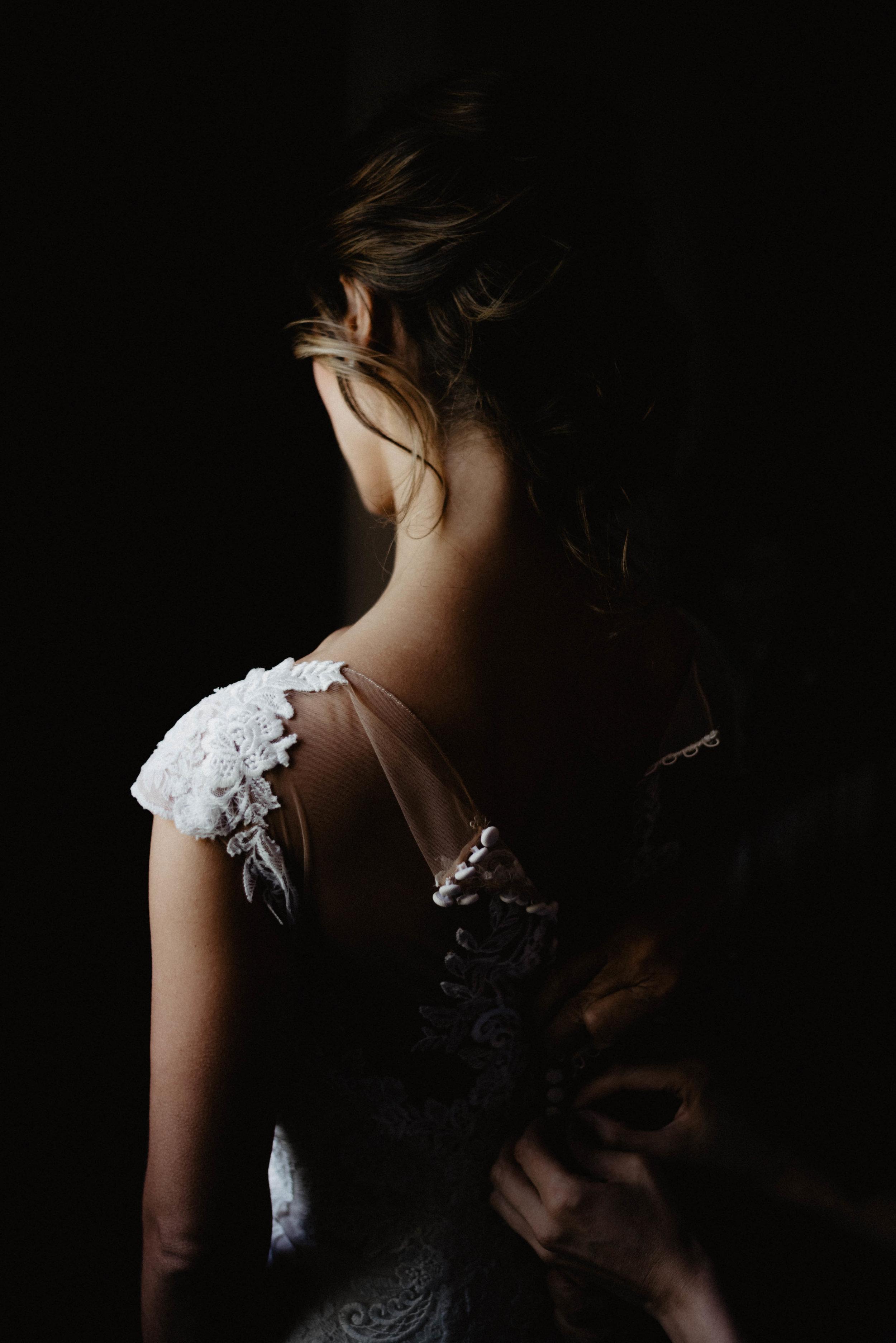 Moody wedding bride dress