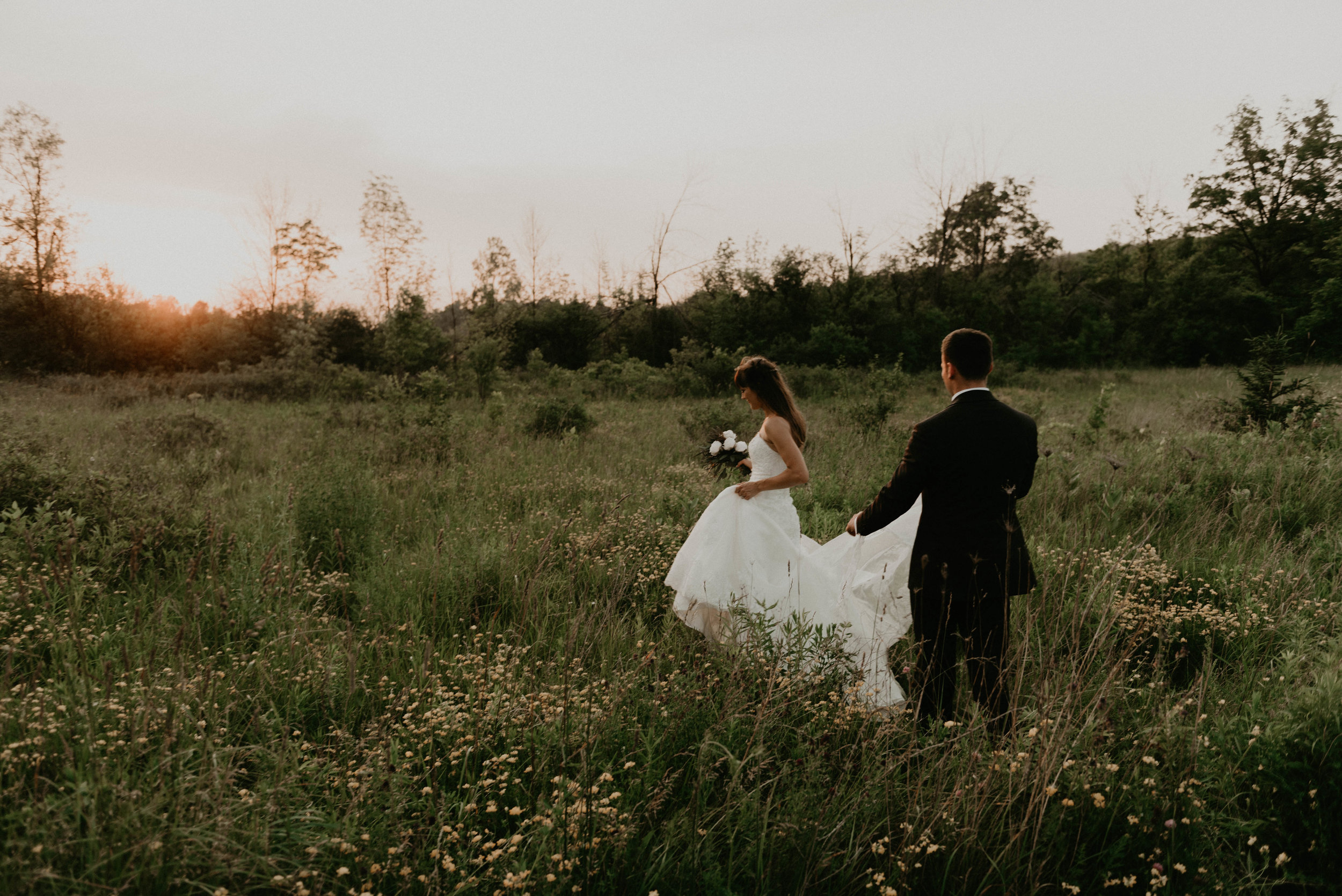 Canadian elopement during golden hour