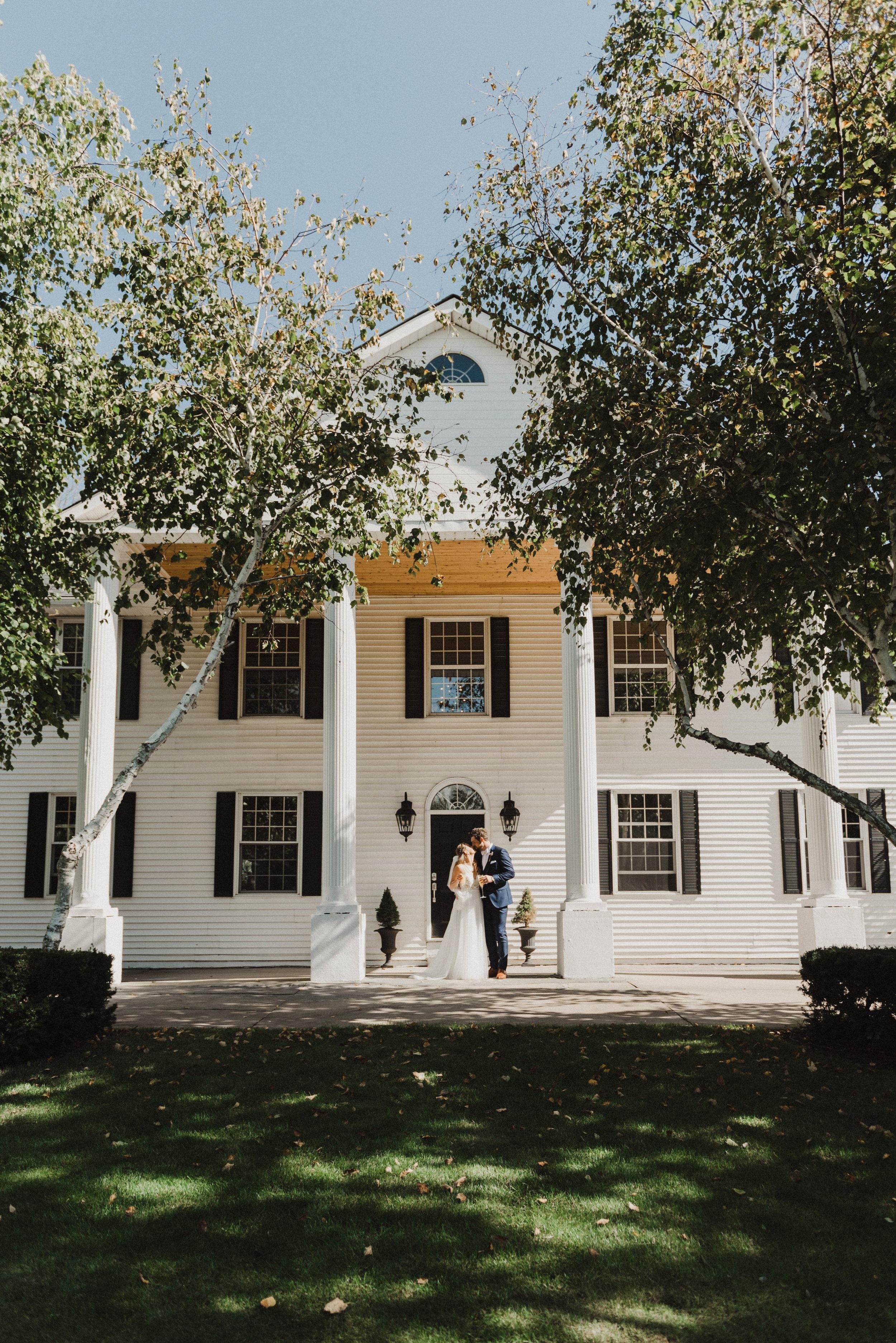 Elegant wedding at countryside estate.