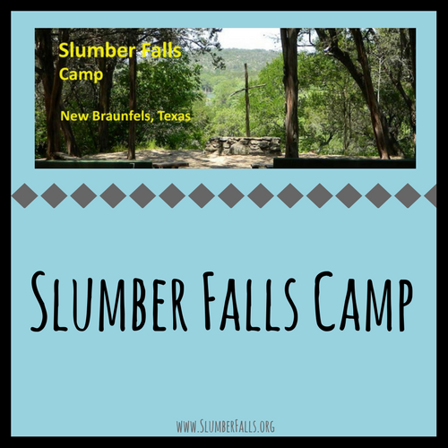 Link to Main Website  - Slumber Falls Camp is an outdoor ministry of the South Central Conference of the United Church of Christ. The twenty acre facility nestled along the Guadalupe River can host three simultaneous events at any given time. The Woelke Lodge facility can accommodate 70, the Kelsey Lodge facility can sleep 40 people while the Bizer Retreat Center can accommodate 40 people. There are three outdoor worship areas. Cedar trees dominate the property, with cypress trees found along the river. An Indian mound and numerous fossils abound near the area known as Fossil Flats.  While the camp is best known for its Christian summer camp for children ages 6-18, the facility is used by a wide variety of groups from all over Texas during most weekends of the year.
