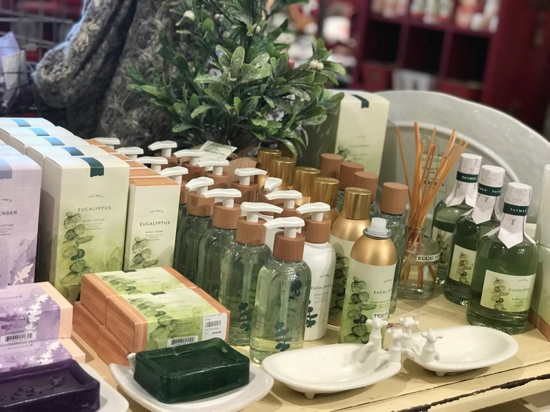 Thymes Eucalyptus lotions and soaps