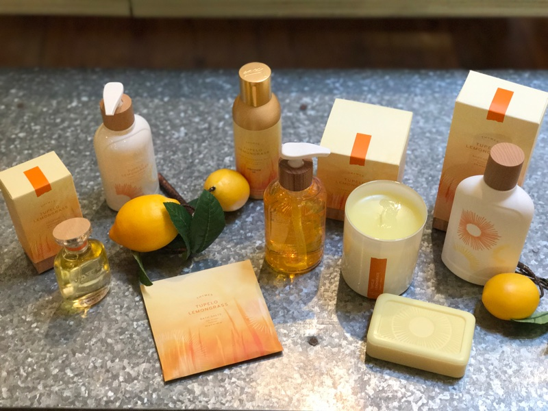Thymes Tupelo Lemongrass lotions and soaps